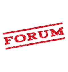 Forum watermark stamp vector