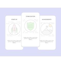 Set of start up stabilization achievement vector