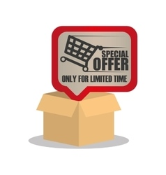 online special offer limited time vector image