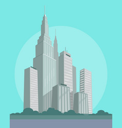 huge business and habitable skyscrapers in city vector image