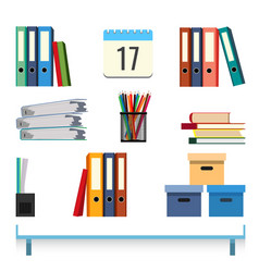Stationery accessories on the table vector