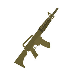 Rifle isolated machine gun on white background vector