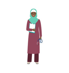 Female character of neuropathist vector