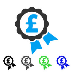 Featured pound price label flat icon vector