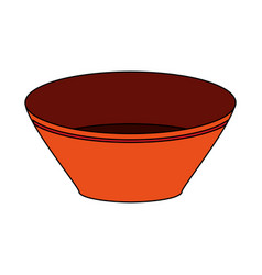 bowl utensil kitchen icon vector image