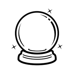 crystal ball icon vector image