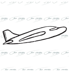 Abstract seamless pattern with plane bon voyage vector