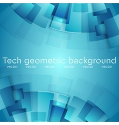 Abstract blue geometric technology background vector