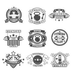 Gym emblems set vector