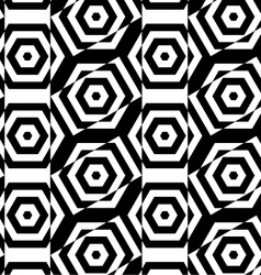 Black and white alternating rectangles cut through vector