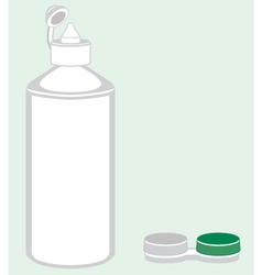 Contact lens care bottle and case vector