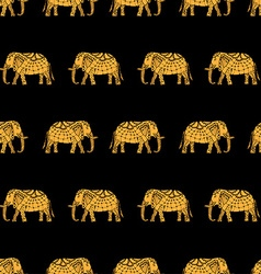 Pattern with indian elephants vector