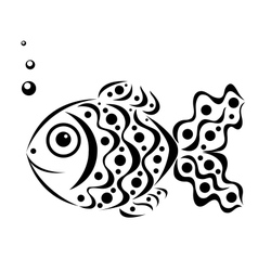 Ornamental fish vector