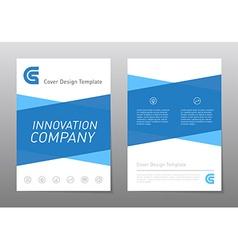 Blue annual report brochure or flyer design vector