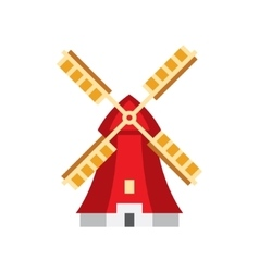Holandaise windmill simplified icon vector