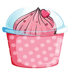 A disposable cup with a dessert vector image vector image