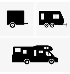 Auto trailer vector