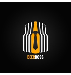beer bottle boss concept design background vector image vector image