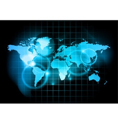 blue map world vector image vector image