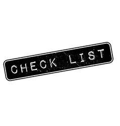 Check list rubber stamp vector