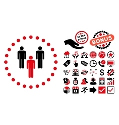 Community Flat Icon with Bonus vector image vector image