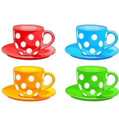 cup and saucer vector image vector image