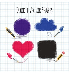 Doodle shapes set vector