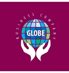 Earth logo template globe sign vector