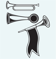 Fanfare and wind musical vector image vector image