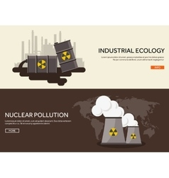 Flat industrial background vector image