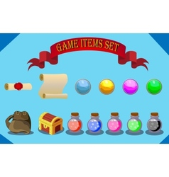 Game items set vector