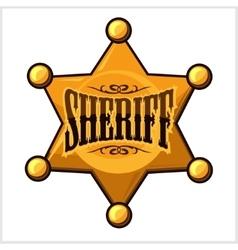 Golden sheriff star badge vector
