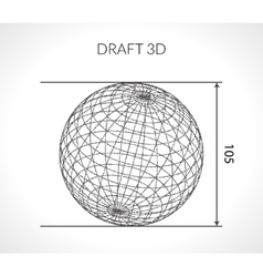 Hand-drawn scribble sphere draft architect vector