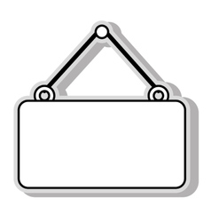 hanging sign blank isolated vector image