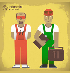 Industrial workers concept vector
