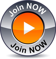 Join now round button vector image