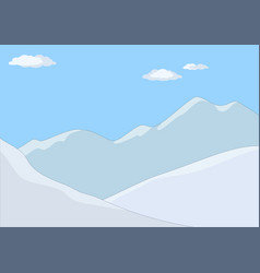 mountain landscape in day vector image