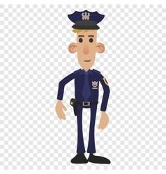 Police man cartoon vector