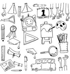 schoool education doodles vector image vector image
