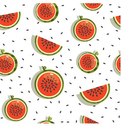 Seamless background pattern with watermelon vector