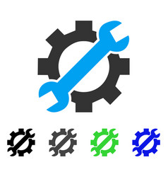 Service tools flat icon vector
