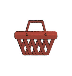 shopping basket isolated icon vector image