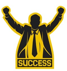 successful businessman vector image
