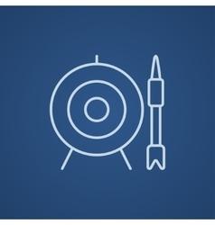 Target board and arrow line icon vector