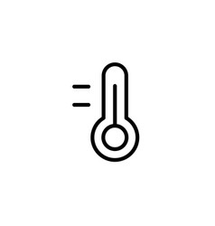 thermometer icon thin line black vector image vector image