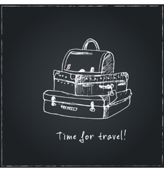 Time to travel Motivational travel poster with vector image