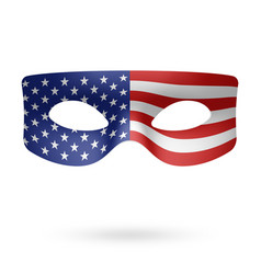 usa flag masquerade mask vector image