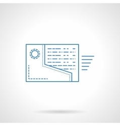 Web reminder icon flat blue line style vector