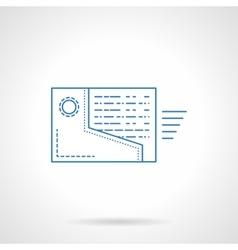 Web reminder icon flat blue line style vector image