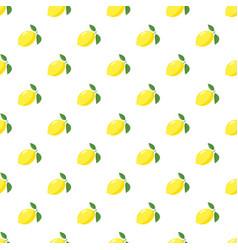 Yellow lemon pattern vector
